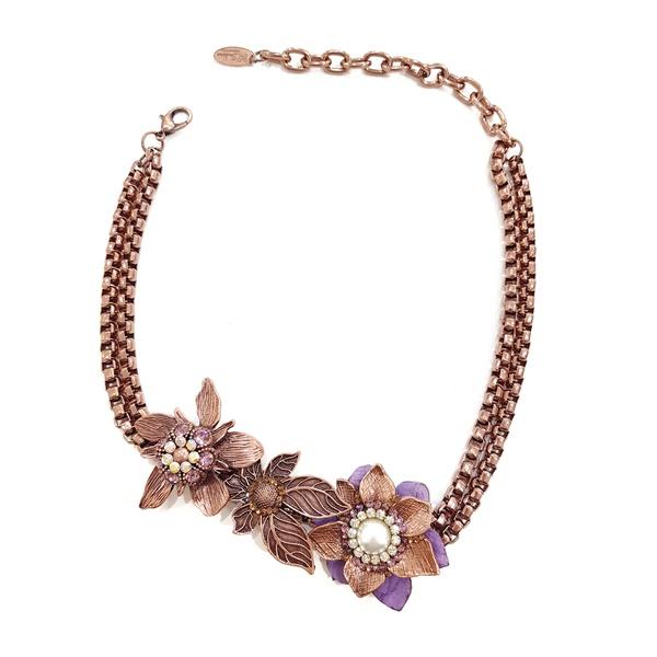 Maxi colar de flores 13418
