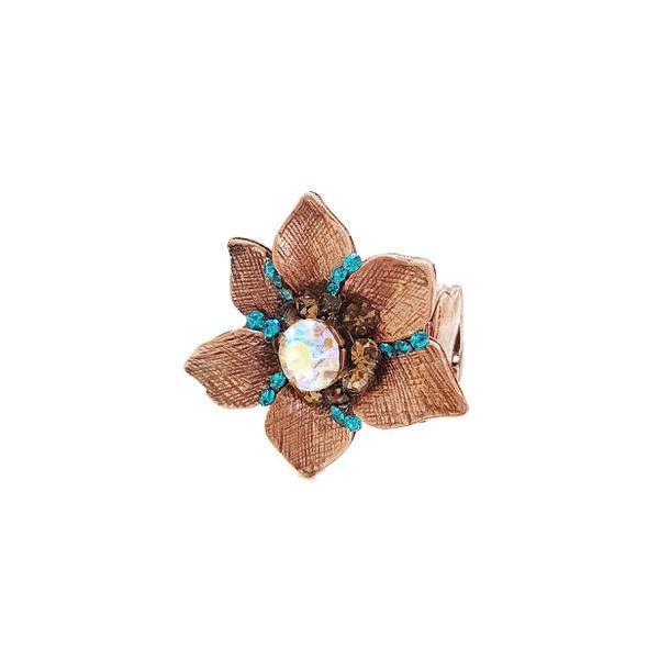 Anel de flor vintage 13433