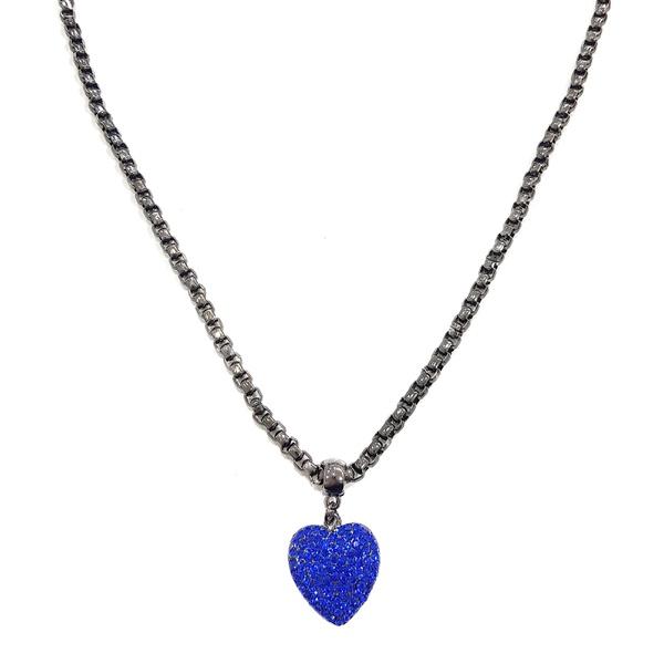 Colar de coração sapphire 13440