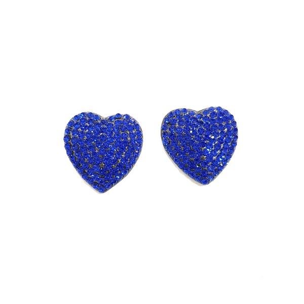 Brinco de coração sapphire 13441