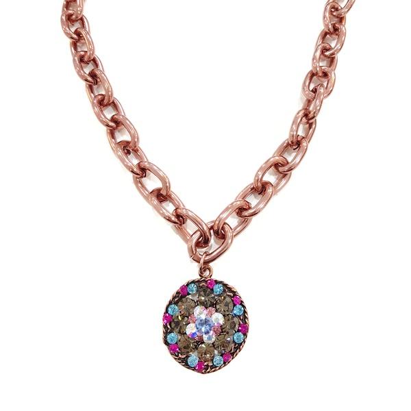 Maxi colar com mandala colorida 13449