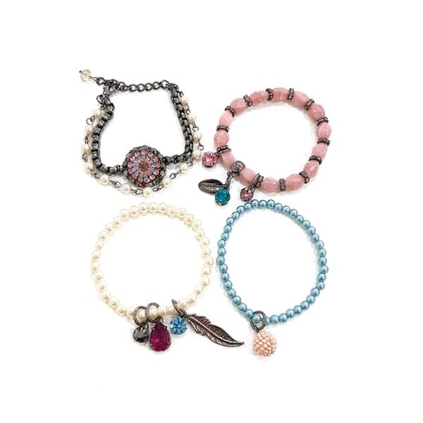 Mix de pulseiras coloridas 13526