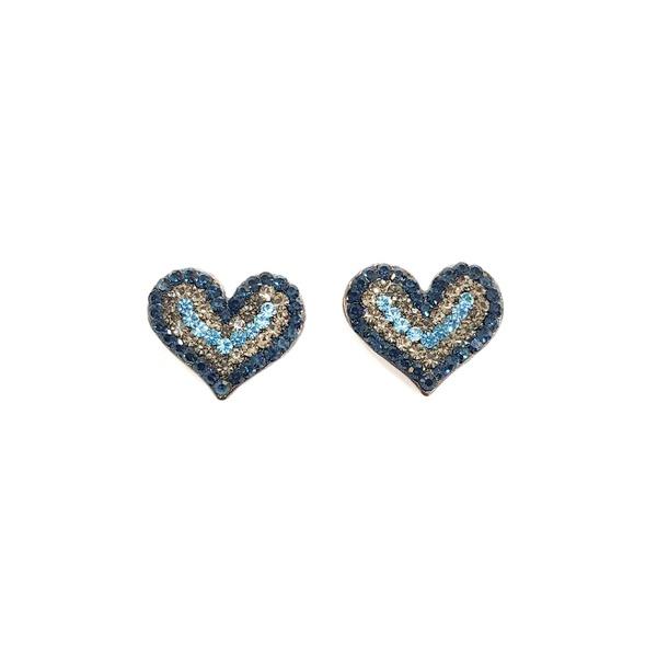 Brinco de coração azul 13538