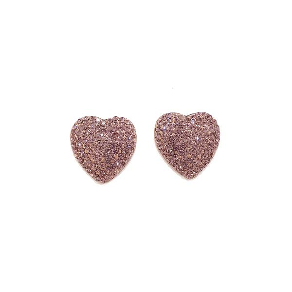 Brinco de coração lilás vintage 13553