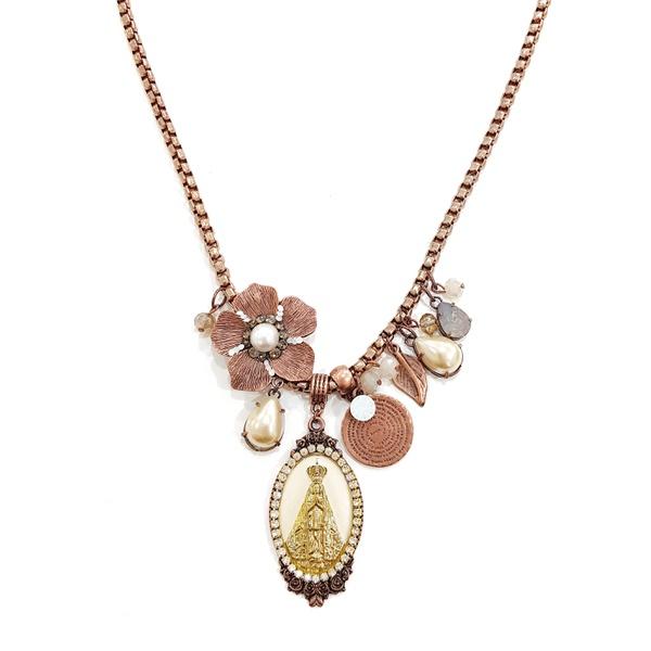 Maxi colar Nossa Senhora Aparecida Perolas 13573