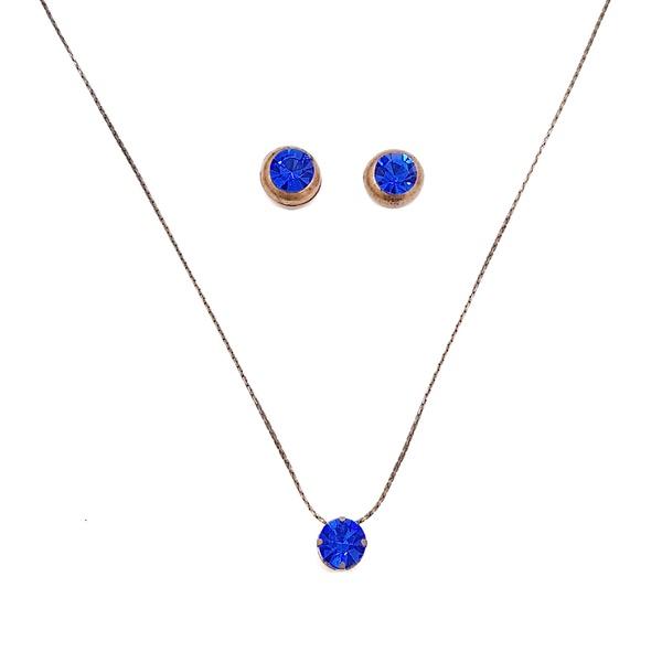 Colar e Brincos Sapphire 13689