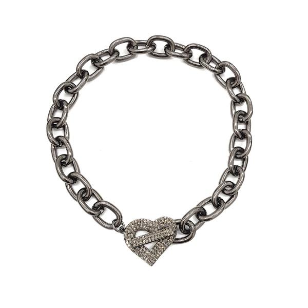 Choker de Coração Black Diamond 13693