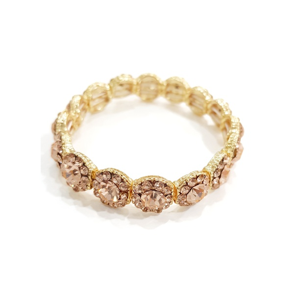 COD12519 Bracelete de Strass Light Peach