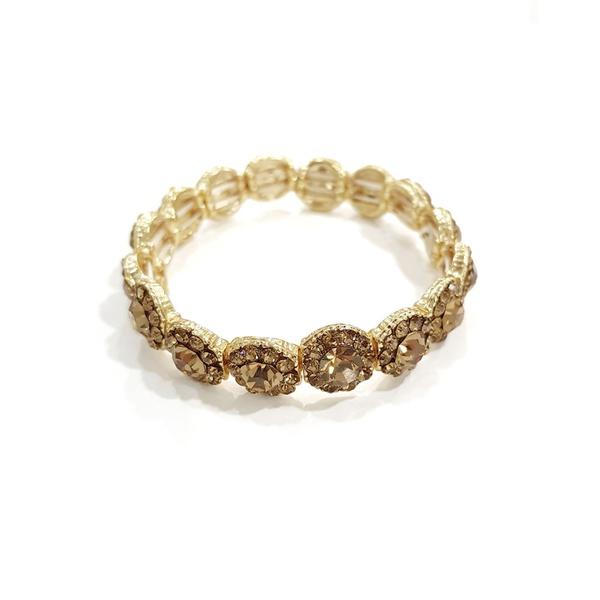 Bracelete de Strass Dourado