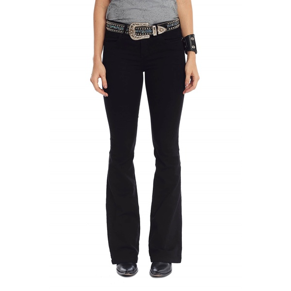 Calça Tassa Country Feminina Boot Cut Preto