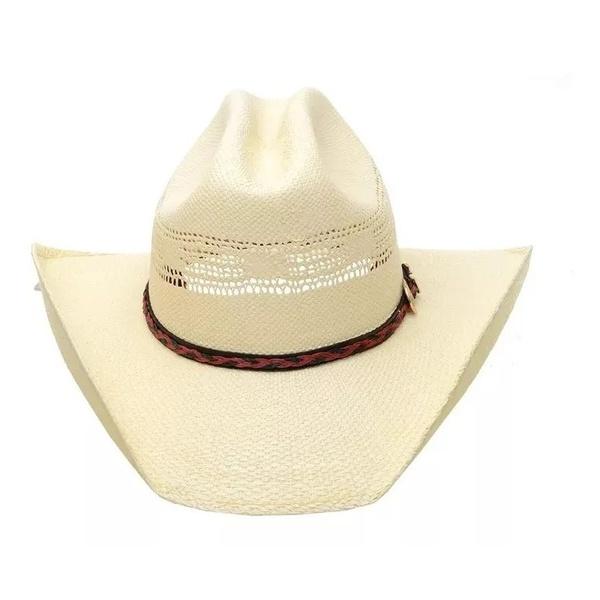 O Chapéu Pralana para quem procura um visual rústico e elegante ! Foi fabricado para acompanhar diáriamente o verdadeiro Cowboy Brasileiro. Confeccionado 100% em celulose, com carneira elástica, copa americana de 11 cms, abas de 10 cms, banda em recouro c