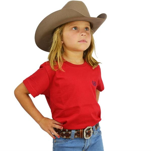 Camiseta Dock's Vermelho / Cereja Infantil - 89021 - Salomão Country
