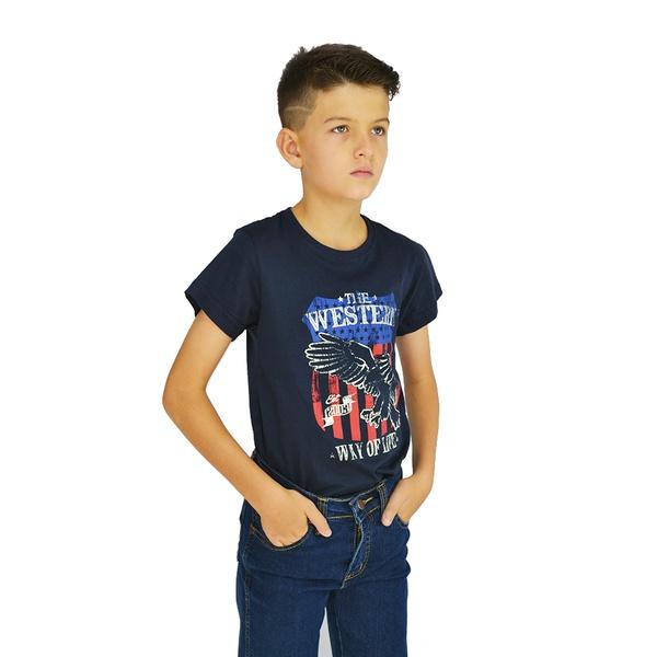 Camiseta Manga Curta Dock's Estampada Infantil - 8... - Salomão Country