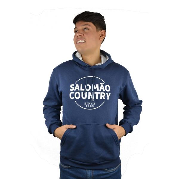 Moletom Salomão Country Azul Marinho - 90277 - SALOMÃO COUNTRY