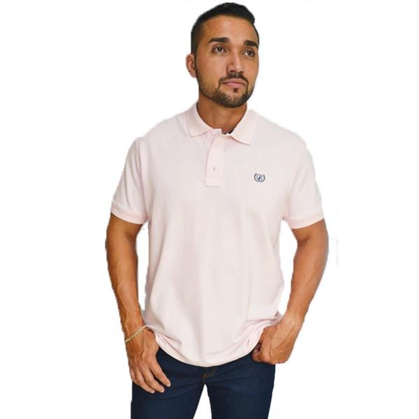 Camiseta Gola Polo Dock's Rosa Bebê - 89602 - SALOMÃO COUNTRY