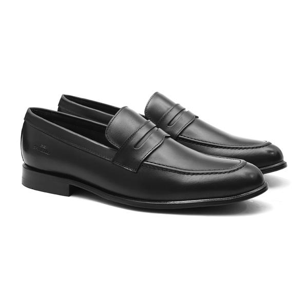 Classico SANDERO Preto - Sapato Masculino Napa Mestiço Samello