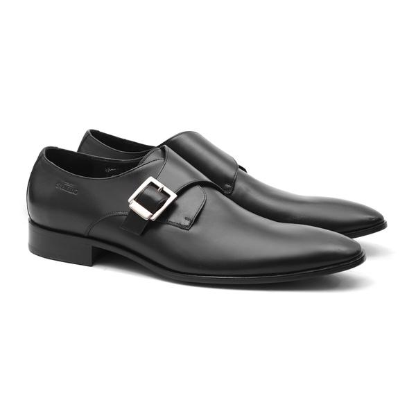 Clássico PABLO PICASSO Cromo Alemão Preto - Sapato Masculino Samello