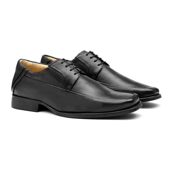 Comfort Gel JOHANNES Preto - Sapato Masculino Derby Samello