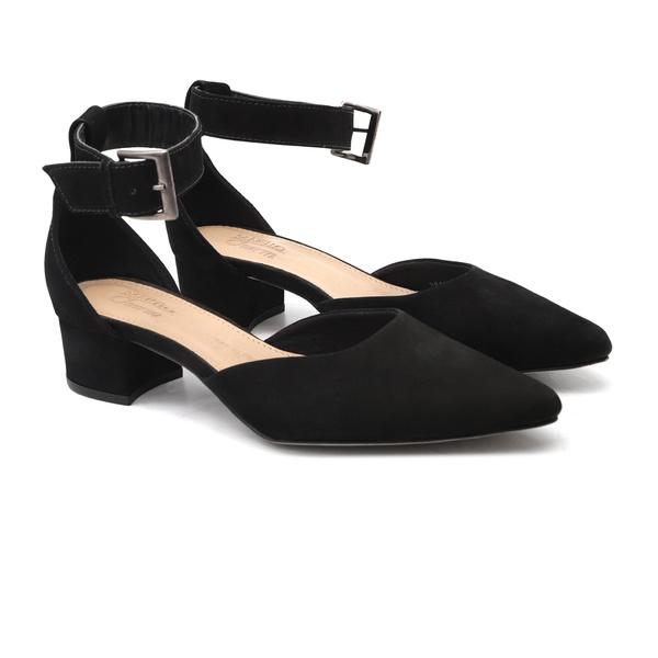 SUSANA Preto Sued - Sapato Feminino Samello