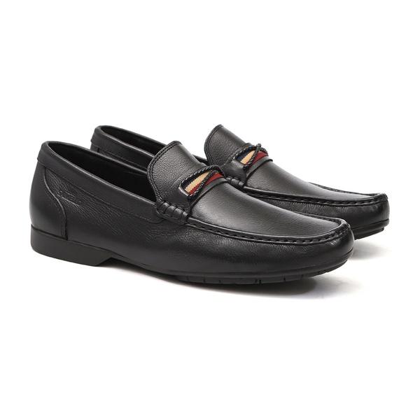 Mocassim s/c COMPASS Preto - Sapato Masculino Loafer Samello