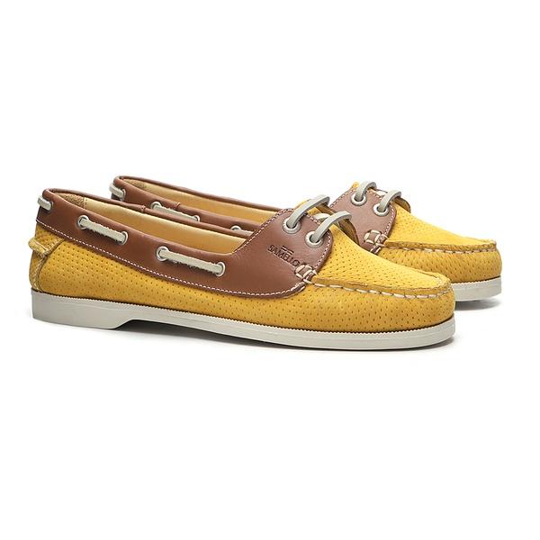 Deckshoes ALICE Amarelo & Papaya - Docksides Feminino Samello