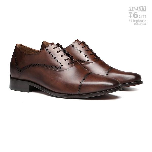 Elevator Social S/C JAGUAR Café - Sapato Masculino Derby Samello