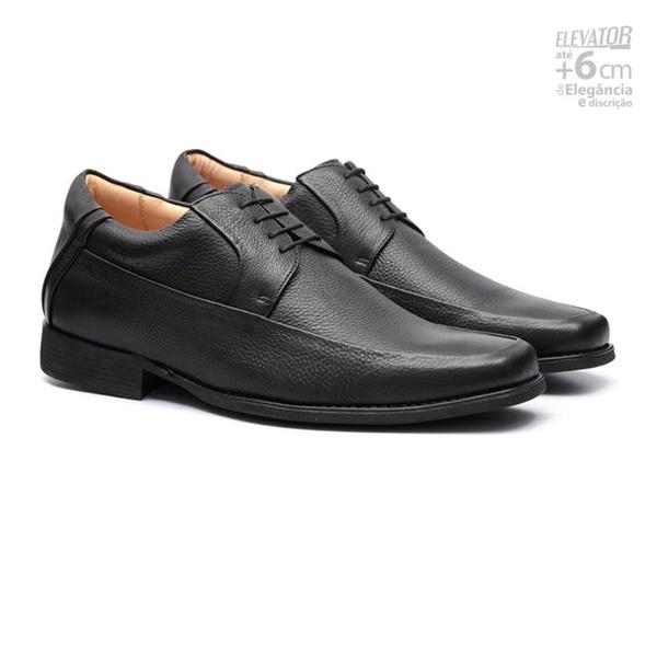 Elevator Comfort Gel JOHANNES Preto - Sapato Masculino Derby Samello
