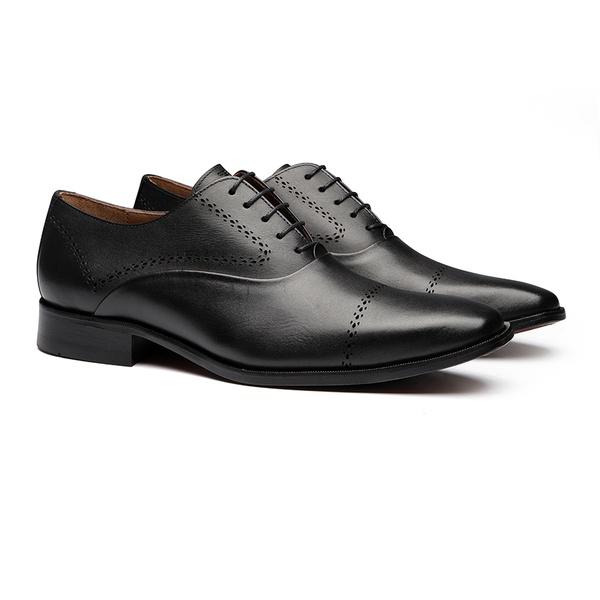 Sapato Social Masculino Derby Jaguar Preto Samello