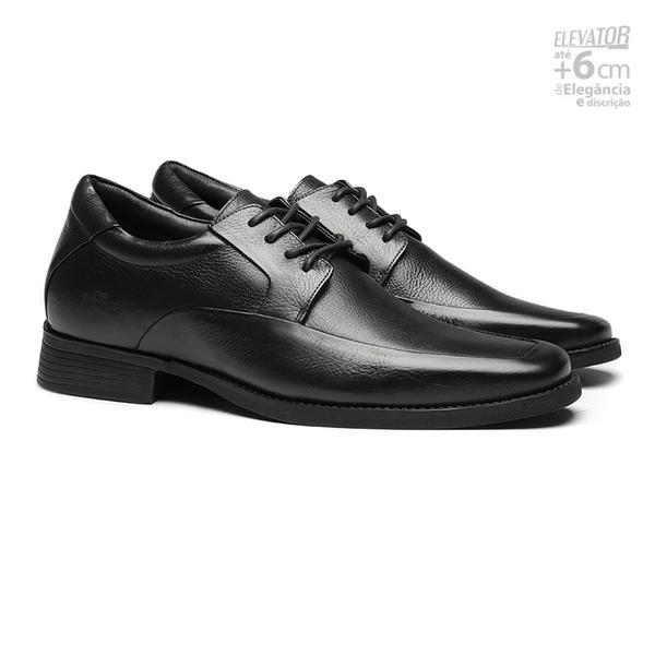 Elevator Comfort Gel LEGACY Preto - Sapato Masculino Derby Samello