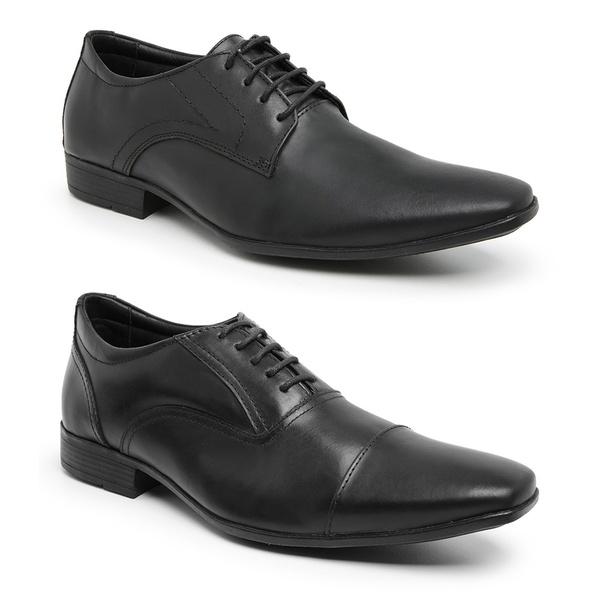 Kit 2 Sapatos Sociais Sândalo Citizen Preto