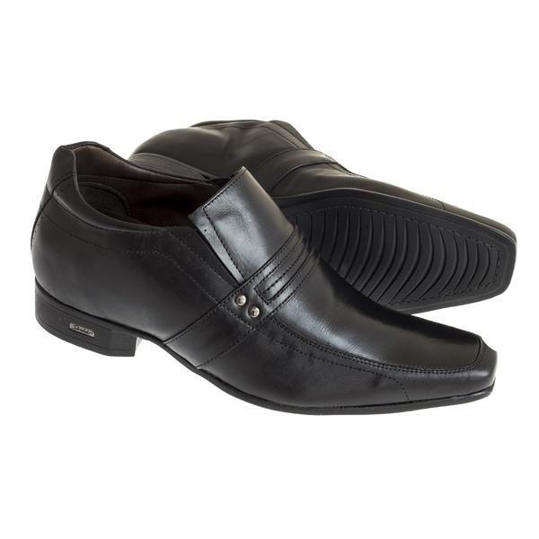 Sapato Sândalo Social Com Elevação Up Preto