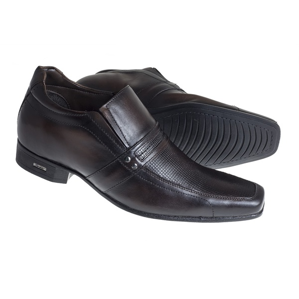 Sapato Sândalo Social Elevação Up Brown