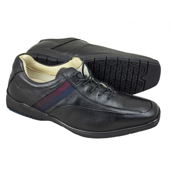 Sapato Sândalo Confort Time Cadarço Preto
