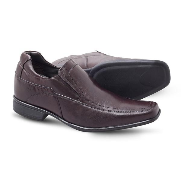 Sapato Social Sândalo Up Com Elevação Vinho
