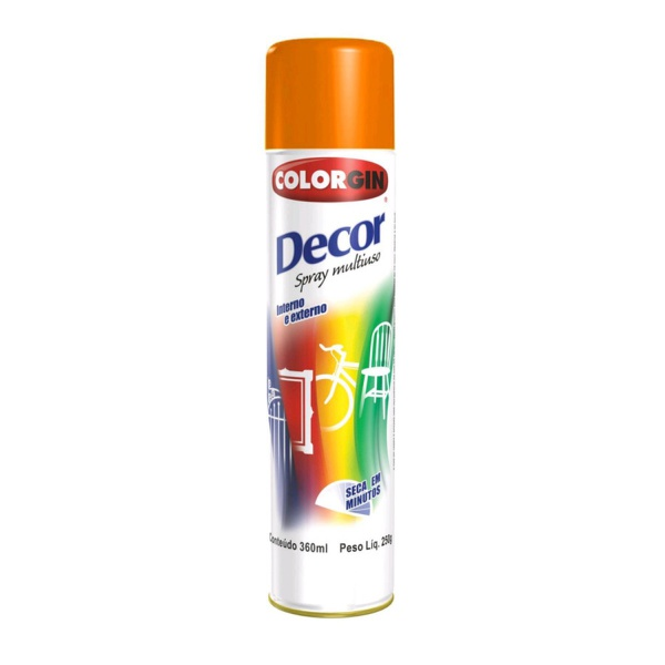 TINTA SPRAY LARANJA 360ml 8831 DECOR COLORGIN