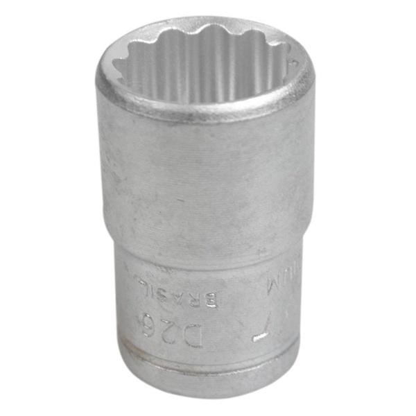 Soquete Estriado Curto 1/2'' X 16mm 204007BBR