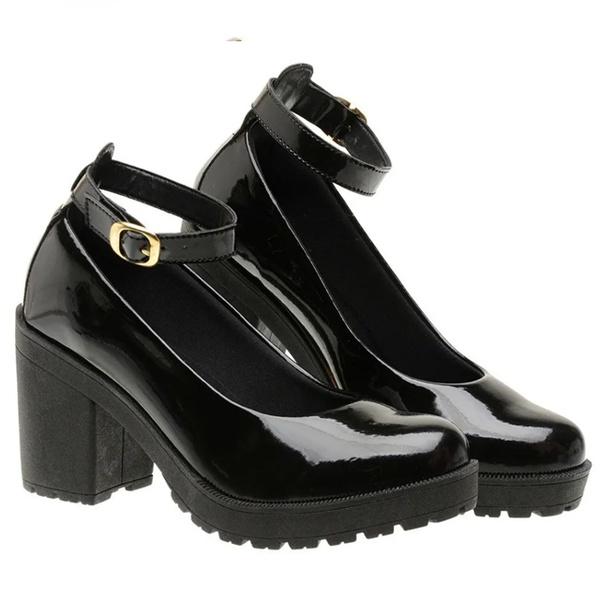 Sapato Boneca Modelo 3 Preto Verniz