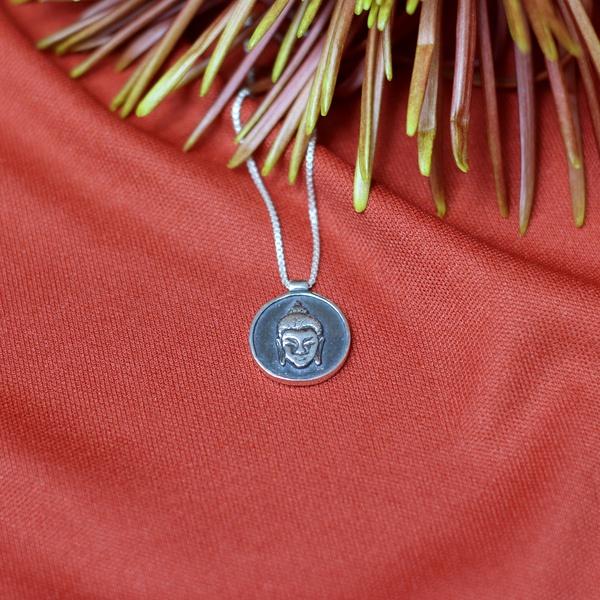 Colar Medalha Buda