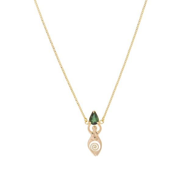Colar Deusa Gota Turmalina Verde | Coleção Guta Virtuoso
