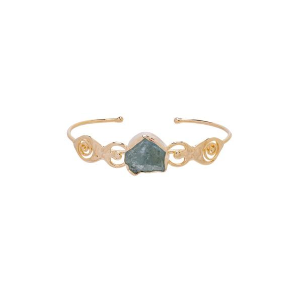 Bracelete Irmãs Água Marinha Dourado