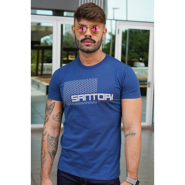 T-shirt Hive Blue