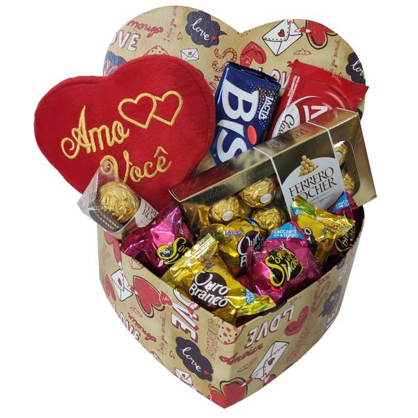 Caixa dia maravilhoso com chocolate