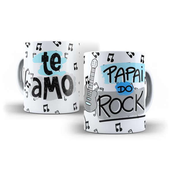 Caneca Personalizada Papai do Rock