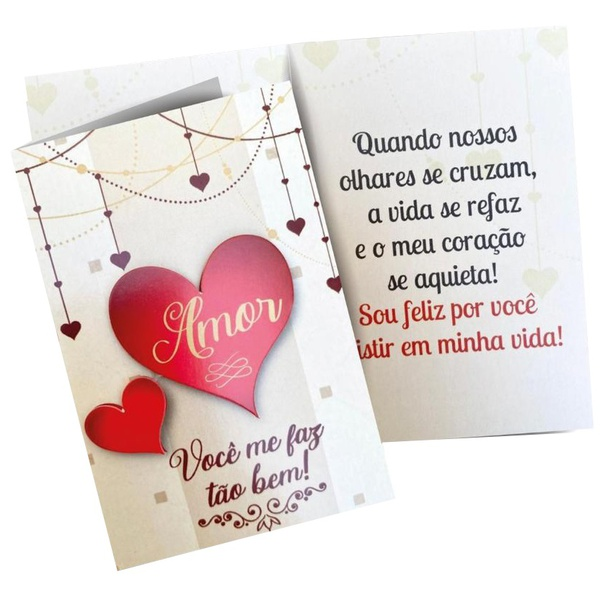 Cartão personalizado de amor