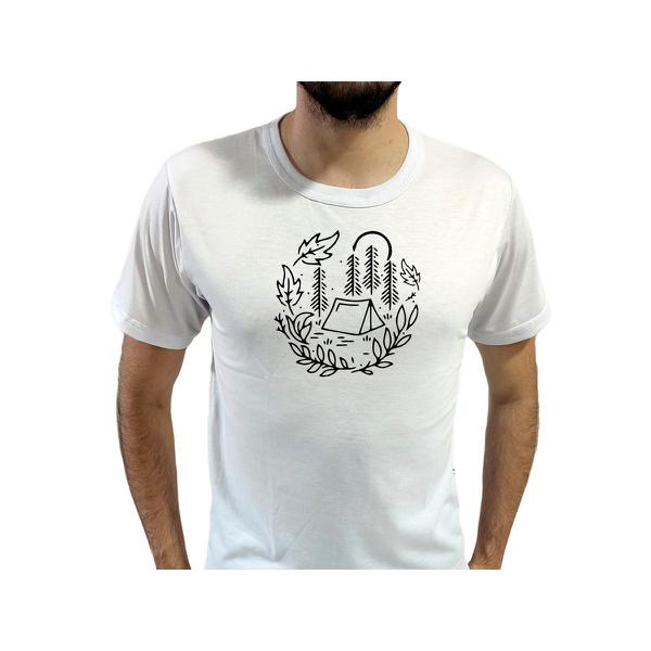 Camiseta T-Shirt Masculina Cabana Branca