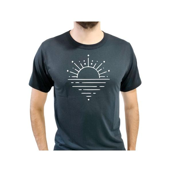 Camiseta T-Shirt Masculina Sunset Preta