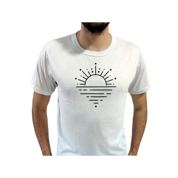 Camiseta T-Shirt Masculina Sunset Branca