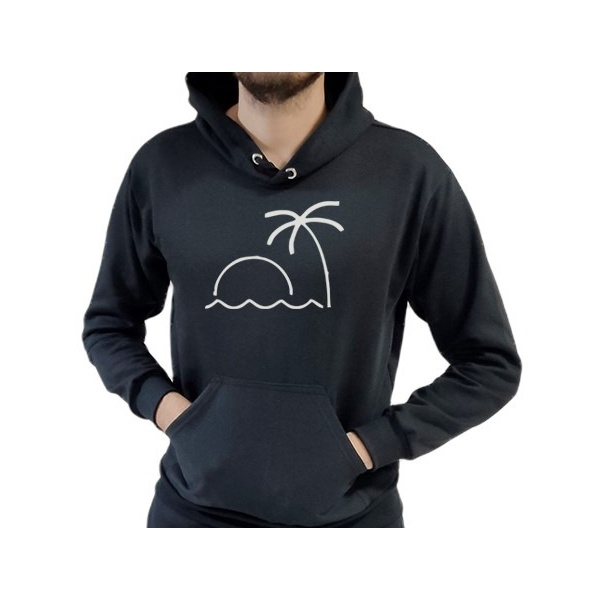 Blusa de Frio Moletom Masculino Beach Preto