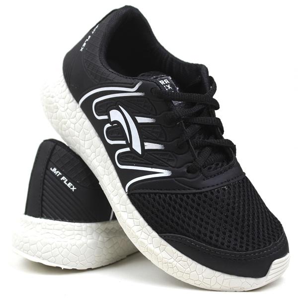 Tênis esportivo Utraflex preto/branco 130 FRC