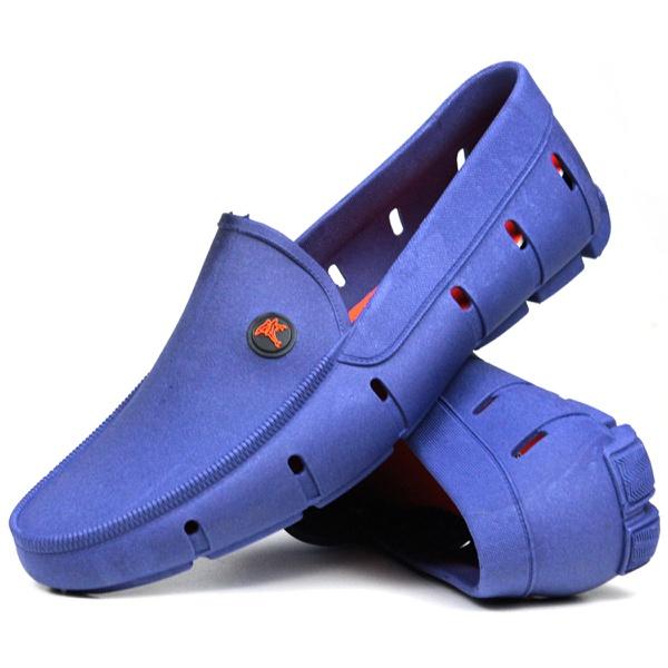 Mocassim estilo drive masculino em micro-expandido azul royal